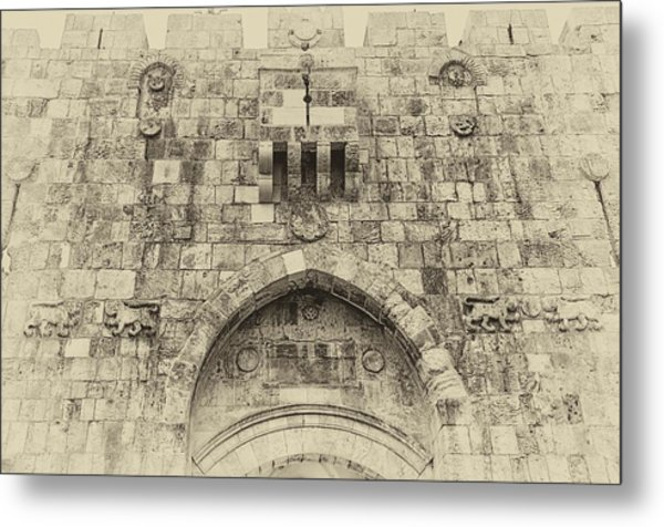 Lion Gate Jerusalem Old City Israel Metal Print