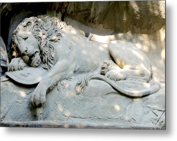 Lion Monument In Lucerne Switzerland Metal Print