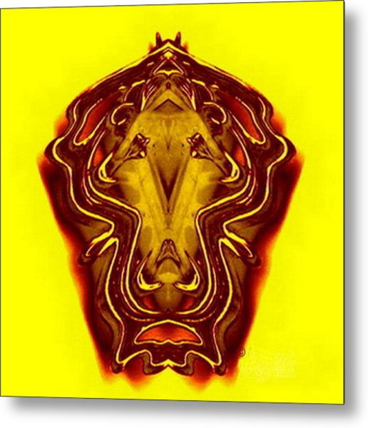 Lion Tall Metal Print