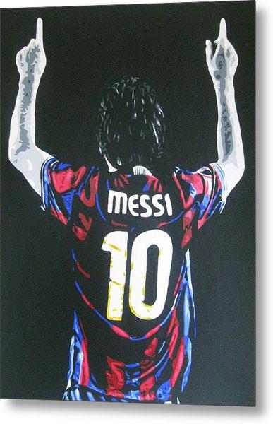 Lionel Messi - Barcelona Fc Metal Print