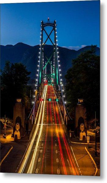 Lion's Gate Bridge Vancouver B.c Canada Metal Print by Pierre Leclerc Photography