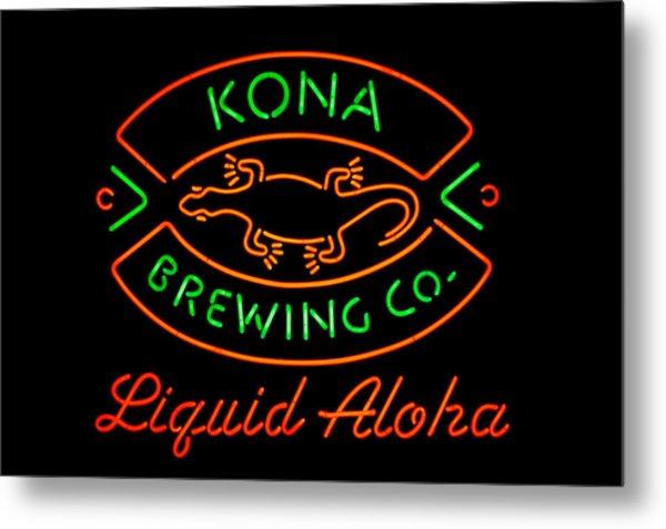 Liquid Aloha Metal Print
