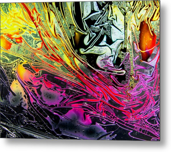 Liquid Decalcomaniac Desires 1 Metal Print