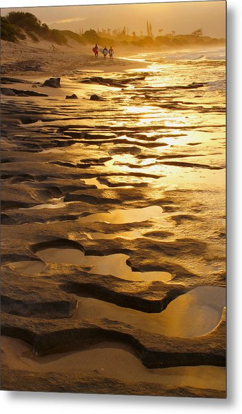 Liquid Gold Metal Print
