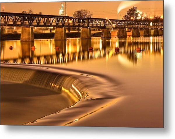 Liquid Gold - The 21st Street Bridge  Metal Print