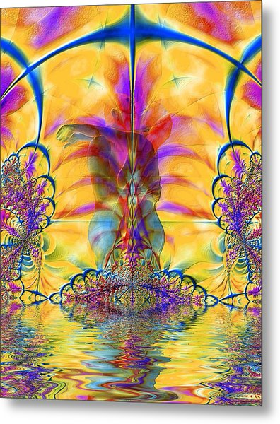 Liquid Lace Metal Print