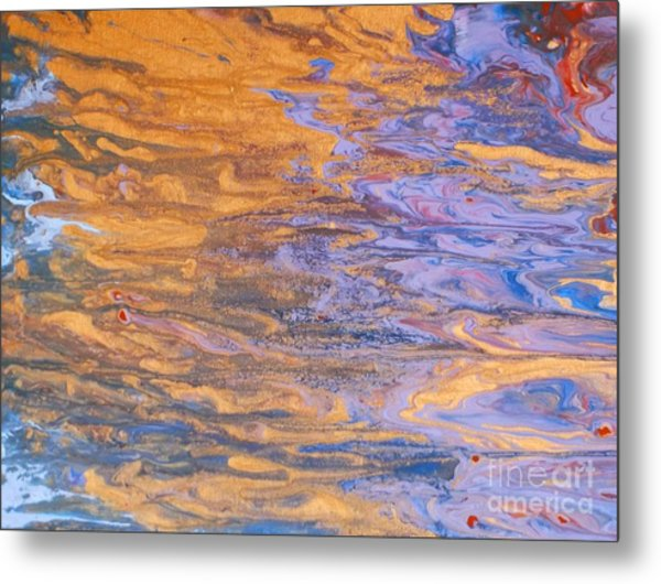 Liquid Summer Metal Print