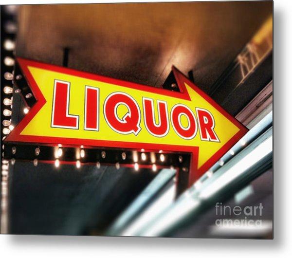 Liquor Store Sign Metal Print