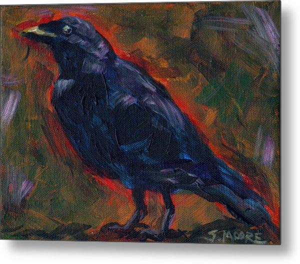 Lisa's Blackbird Metal Print by Susan Moore