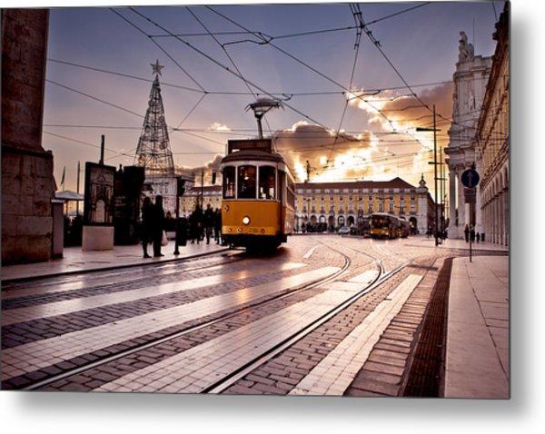 Lisbon Light Metal Print