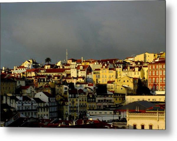 Lisbon Skyline Metal Print