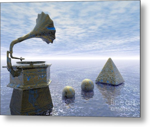 Listen - Surrealism Metal Print
