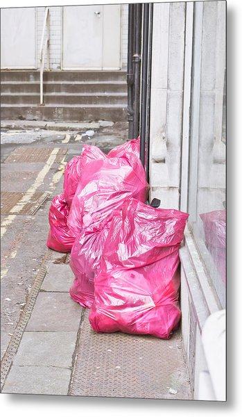 Litter Bags Metal Print