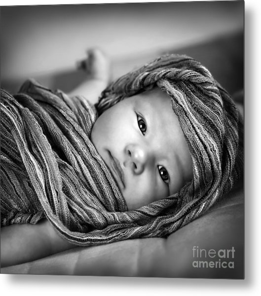 Little Baby Girl Metal Print