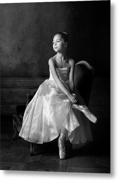 Little Ballet Star Metal Print