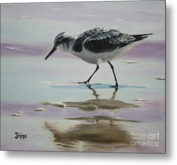 Little Beach Bird Metal Print