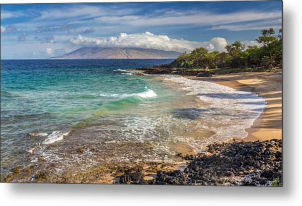 Little Beach Maui Sunrise Metal Print