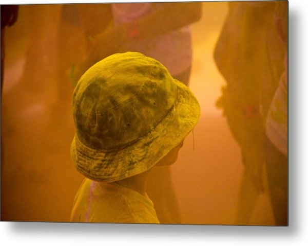 Metal Print featuring the photograph Little Boy Yellow by Debbie Cundy