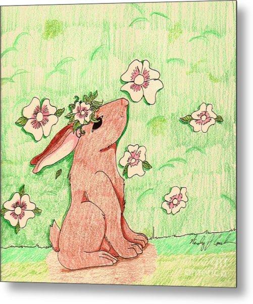 Little Bunny Big Dreams Metal Print
