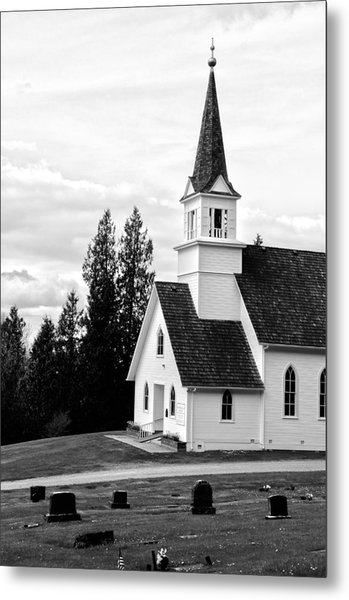 Little Church On The Hill Metal Print by Marv Russell