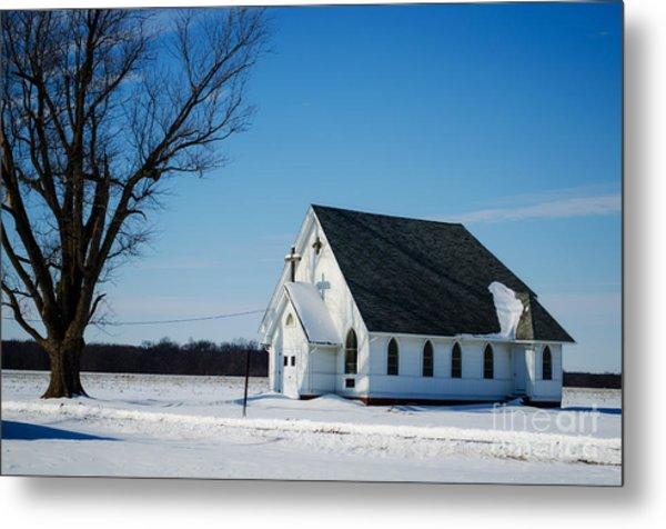 Little Church On The Prairie Metal Print