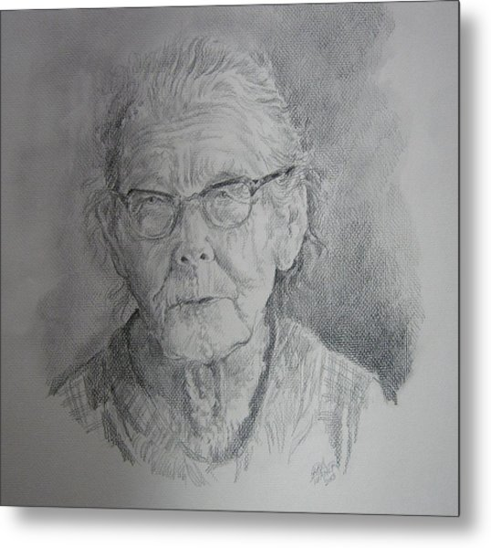 Little Granny Smith Metal Print