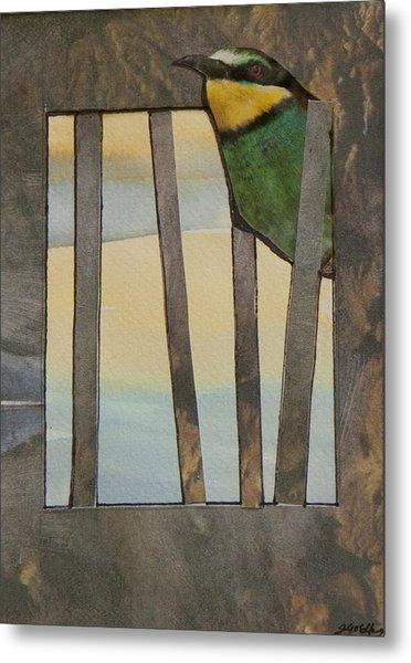 Little Green Bird Metal Print