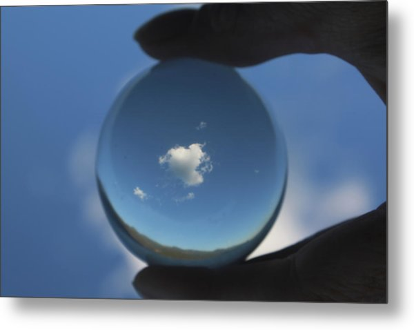 Little Heart Cloud Metal Print