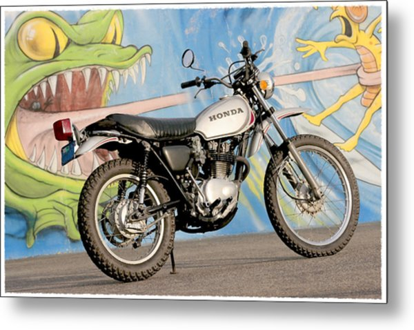 Little Honda On Highway One Metal Print