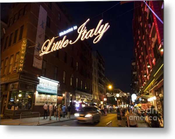 Little Italy Sign Metal Print by Ed Rooney