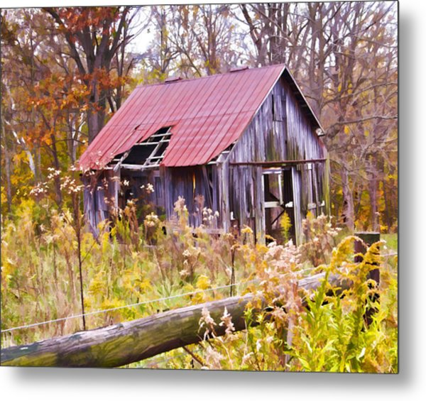 Little Lost Barn Metal Print