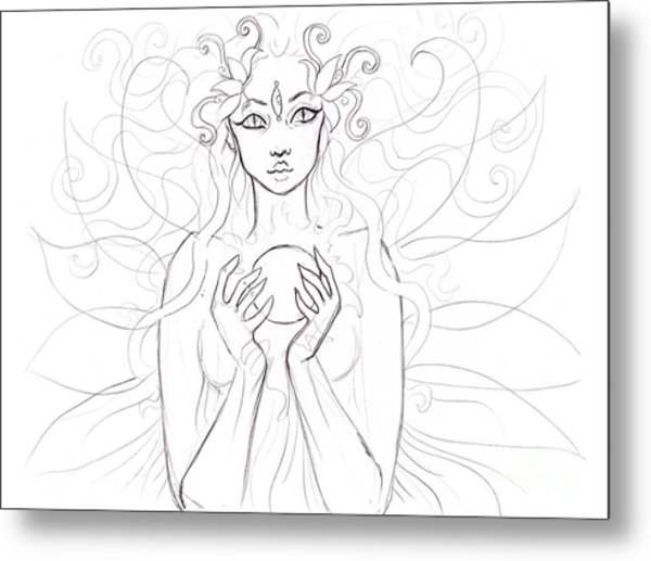 Little Piece Of The Universe Sketch Metal Print by Coriander  Shea