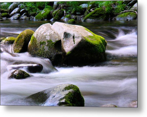 Little Piegon River Gatlinburg Tennessee Metal Print