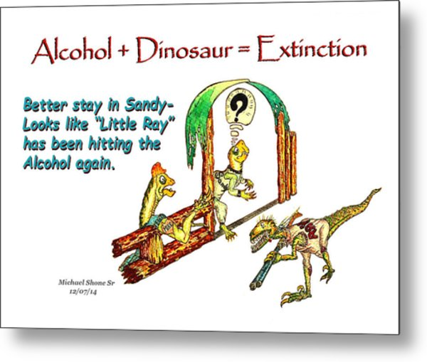 Little Ray Is Drinking Again Metal Print