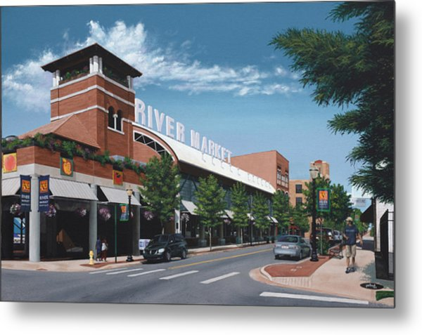 Little Rock River Market Metal Print
