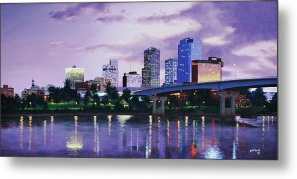Little Rock Skyline Metal Print