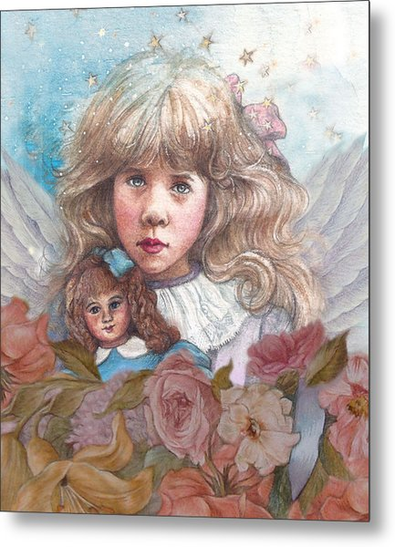 Little Rose Angel Metal Print