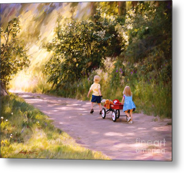 Little Run Aways Metal Print