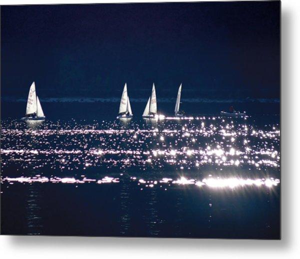 Little Sailing Boats Metal Print by Lana Cuk