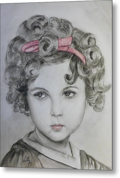 Little Shirley Temple Metal Print