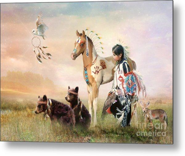 Little Warriors Metal Print