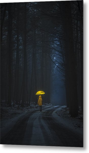 Little Yellow Riding Hood Metal Print