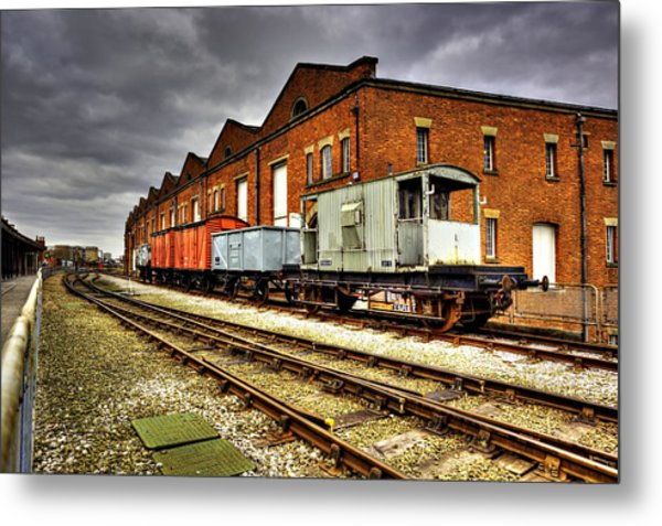 Liverpool Road Station Manchester Metal Print by Sandra Pledger