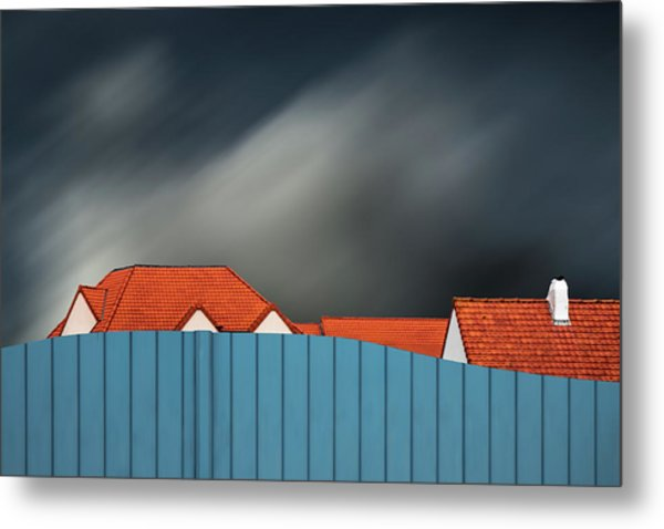 Living Behind The Fence Metal Print by Gilbert Claes