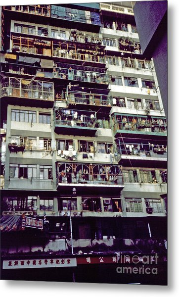 Living In Hong Kong Metal Print by Scott Shaw