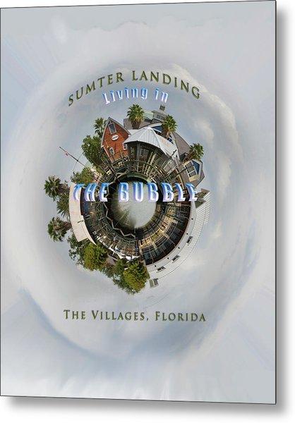 Living In The Bubble Sumter Landing Metal Print by Wynn Davis-Shanks