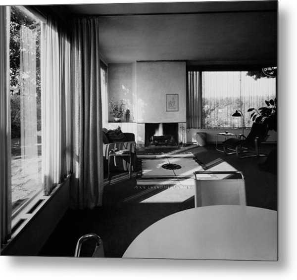 Living Room In Mr. And Mrs. Walter Gropius' House Metal Print
