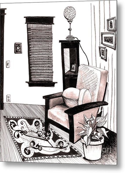 Living Room Metal Print by Michele Fritz