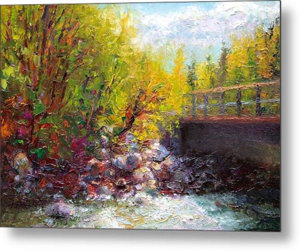 Living Water - Bridge Over Little Su River Metal Print