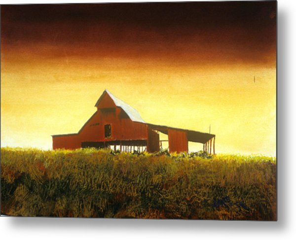 Livingston Co. Red Metal Print